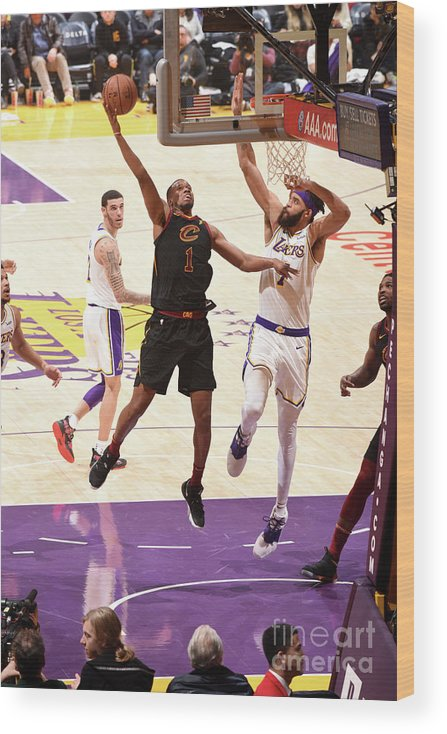 Nba Pro Basketball Wood Print featuring the photograph Rodney Hood by Andrew D. Bernstein