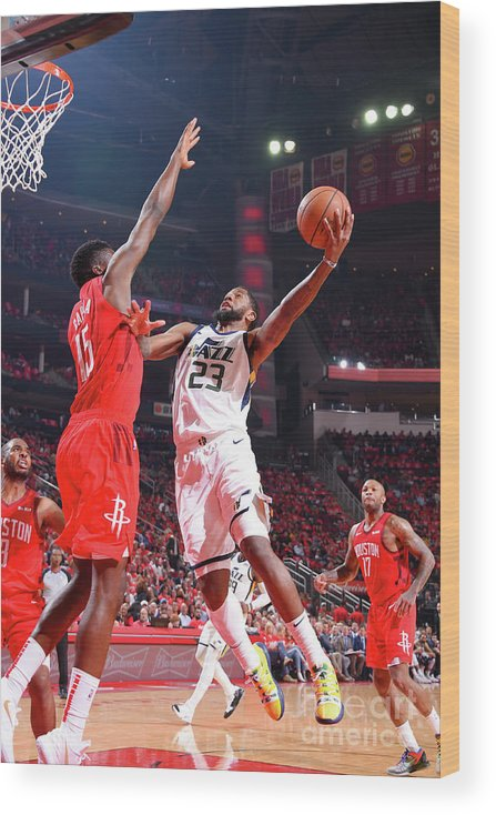 Playoffs Wood Print featuring the photograph Royce O'neale by Bill Baptist