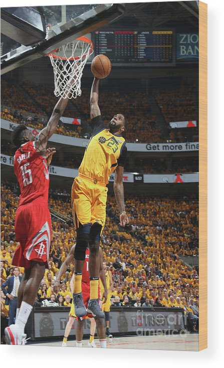 Playoffs Wood Print featuring the photograph Royce O'neale by Melissa Majchrzak