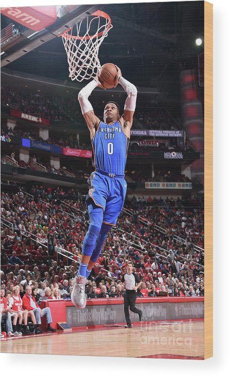 Nba Pro Basketball Wood Print featuring the photograph Russell Westbrook by Bill Baptist