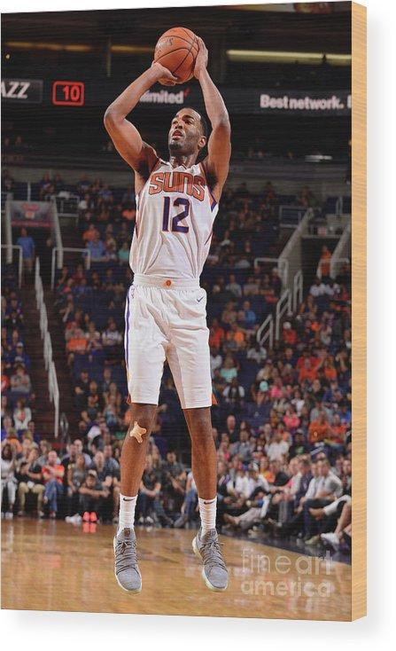 Nba Pro Basketball Wood Print featuring the photograph T.j. Warren by Barry Gossage