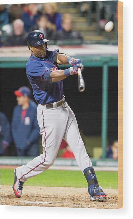 Game Two Wood Print featuring the photograph Torii Hunter by Jason Miller