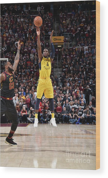 Playoffs Wood Print featuring the photograph Victor Oladipo by David Liam Kyle