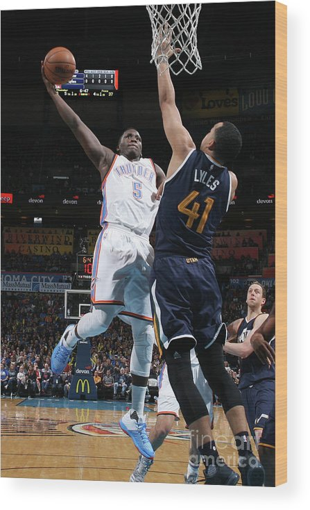 Nba Pro Basketball Wood Print featuring the photograph Victor Oladipo by Layne Murdoch