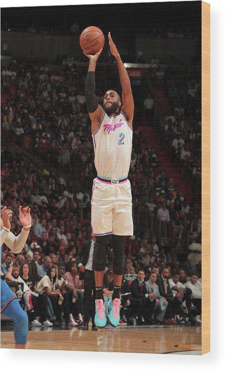 Nba Pro Basketball Wood Print featuring the photograph Wayne Ellington by Oscar Baldizon