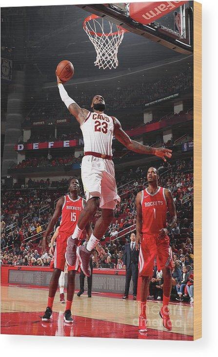 Nba Pro Basketball Wood Print featuring the photograph Lebron James by Joe Murphy