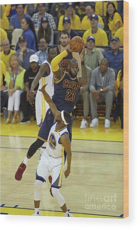 Playoffs Wood Print featuring the photograph Lebron James by Joe Murphy