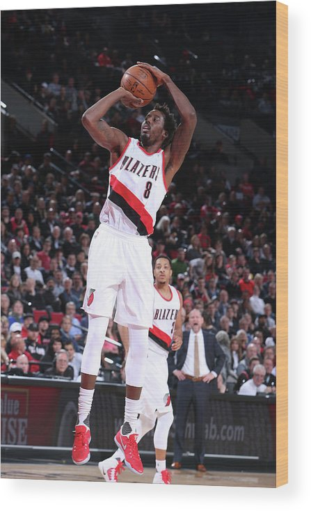 Nba Pro Basketball Wood Print featuring the photograph Al-farouq Aminu by Sam Forencich