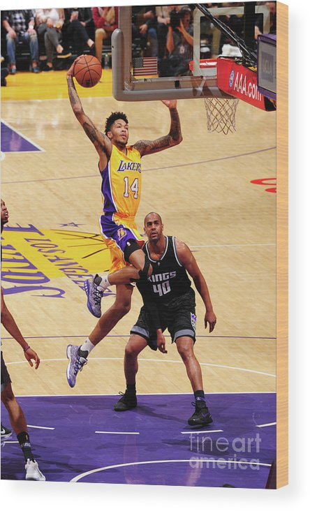Nba Pro Basketball Wood Print featuring the photograph Brandon Ingram by Andrew D. Bernstein