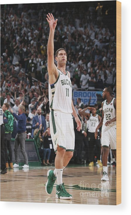 Playoffs Wood Print featuring the photograph Brook Lopez by Gary Dineen