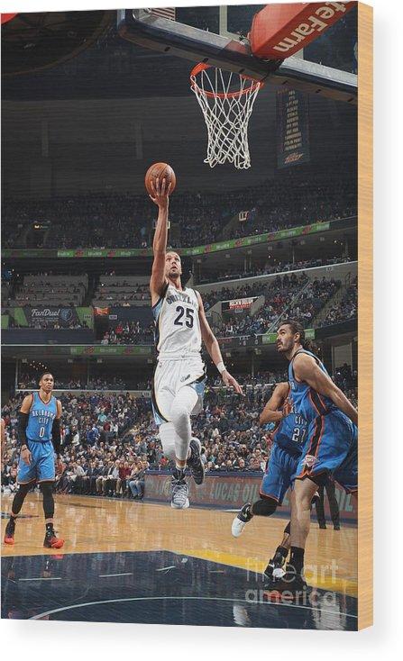 Nba Pro Basketball Wood Print featuring the photograph Chandler Parsons by Joe Murphy