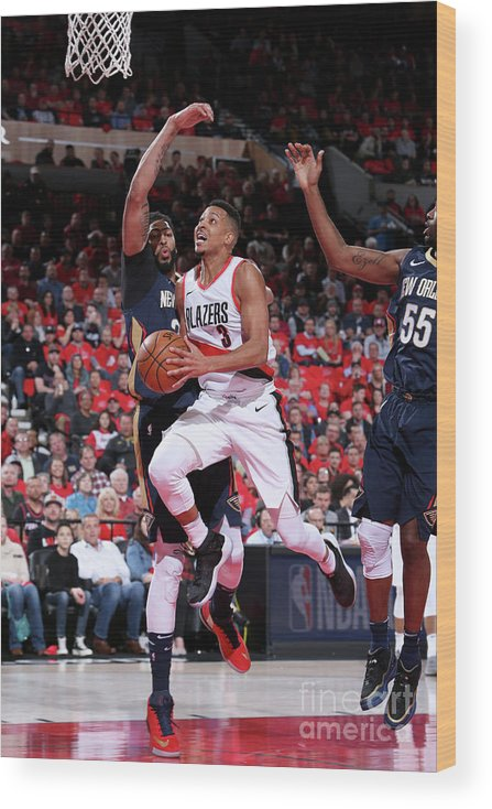 Playoffs Wood Print featuring the photograph C.j. Mccollum by Sam Forencich