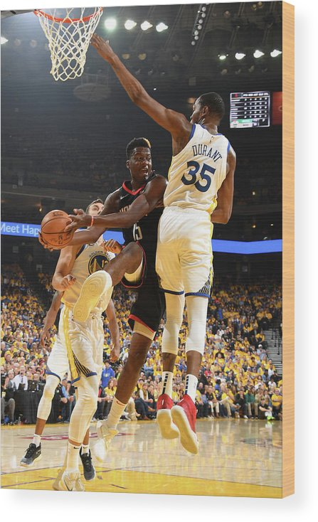 Playoffs Wood Print featuring the photograph Clint Capela by Andrew D. Bernstein