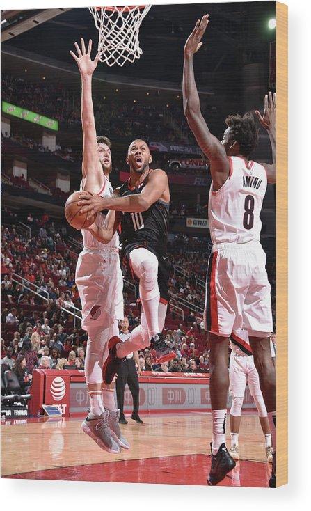 Nba Pro Basketball Wood Print featuring the photograph Eric Gordon by Bill Baptist