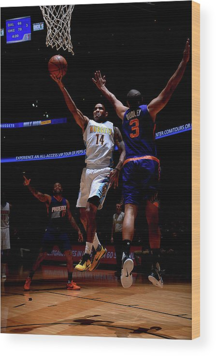 Nba Pro Basketball Wood Print featuring the photograph Gary Harris by Bart Young