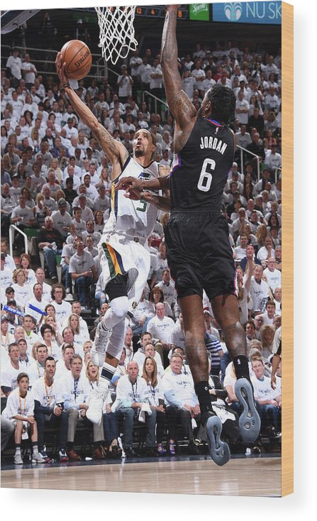 Playoffs Wood Print featuring the photograph George Hill by Andrew D. Bernstein