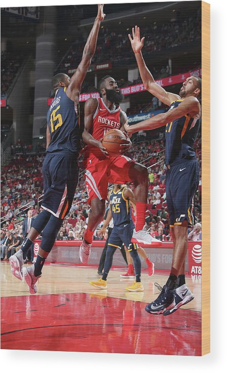 Nba Pro Basketball Wood Print featuring the photograph James Harden by Layne Murdoch