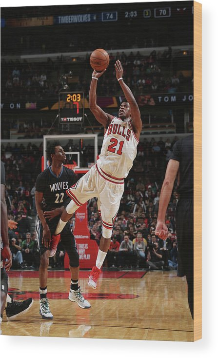 Nba Pro Basketball Wood Print featuring the photograph Jimmy Butler by Gary Dineen