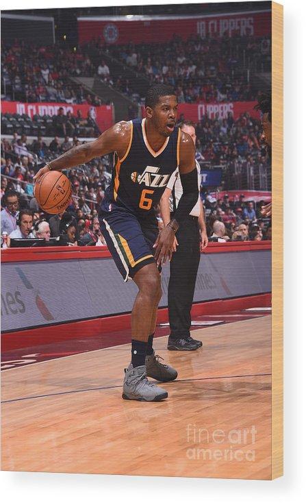 Nba Pro Basketball Wood Print featuring the photograph Joe Johnson by Andrew D. Bernstein