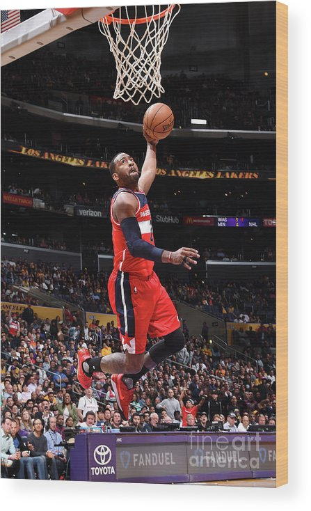 Nba Pro Basketball Wood Print featuring the photograph John Wall by Andrew D. Bernstein