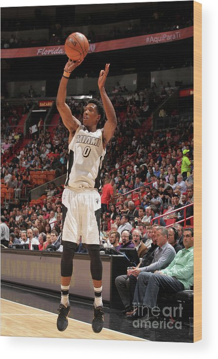 Nba Pro Basketball Wood Print featuring the photograph Josh Richardson by Oscar Baldizon