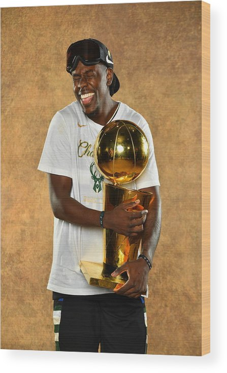 Playoffs Wood Print featuring the photograph Jrue Holiday by Jesse D. Garrabrant