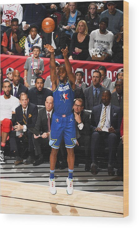 Nba Pro Basketball Wood Print featuring the photograph Kawhi Leonard by Garrett Ellwood