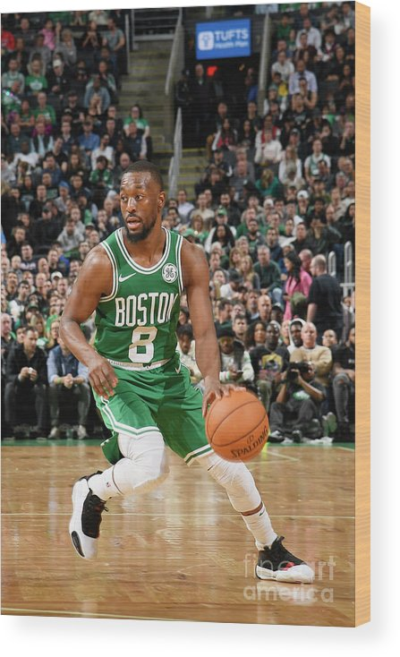 Kemba Walker Wood Print featuring the photograph Kemba Walker by Brian Babineau