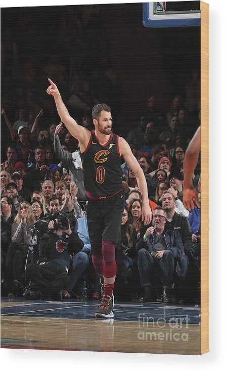 Nba Pro Basketball Wood Print featuring the photograph Kevin Love by Nathaniel S. Butler