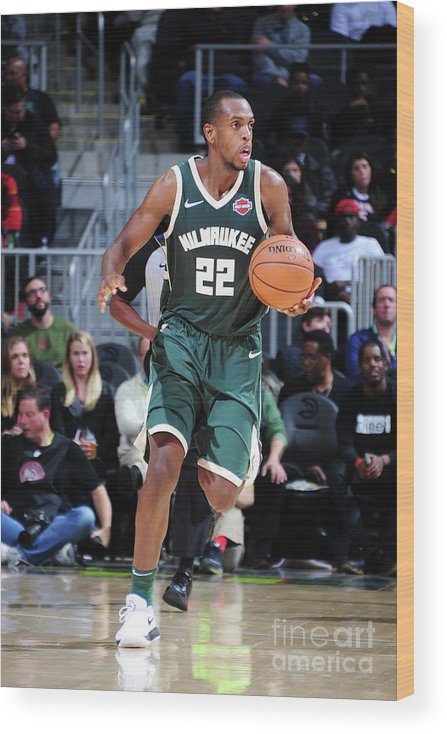 Sport Wood Print featuring the photograph Khris Middleton by Scott Cunningham
