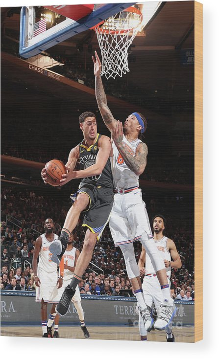 Nba Pro Basketball Wood Print featuring the photograph Klay Thompson by Nathaniel S. Butler