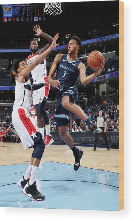 Nba Pro Basketball Wood Print featuring the photograph Kyle Anderson by Joe Murphy