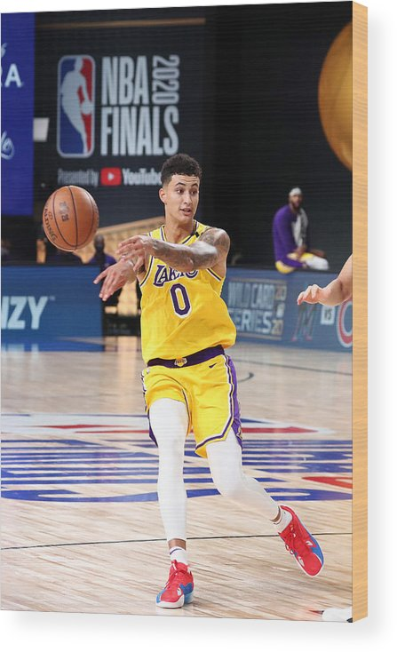 Playoffs Wood Print featuring the photograph Kyle Kuzma by Nathaniel S. Butler