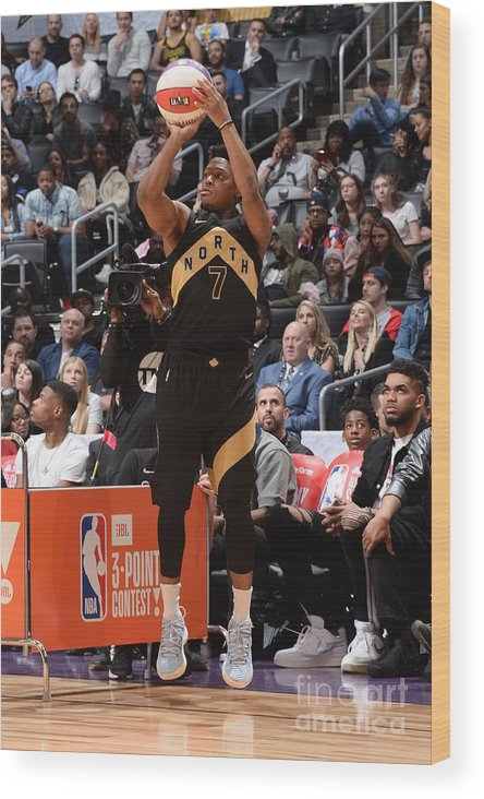 Event Wood Print featuring the photograph Kyle Lowry by Andrew D. Bernstein
