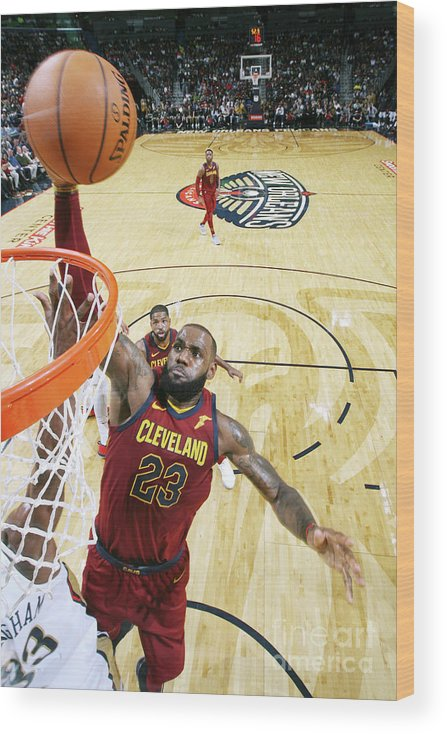 Smoothie King Center Wood Print featuring the photograph Lebron James by Layne Murdoch