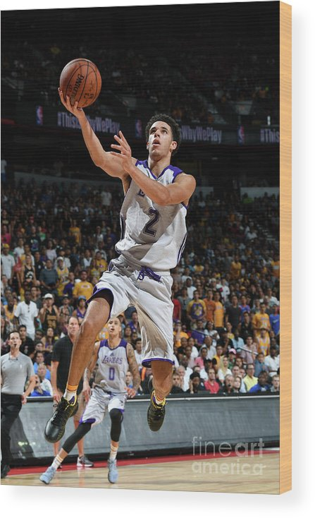 Nba Pro Basketball Wood Print featuring the photograph Lonzo Ball by Garrett Ellwood