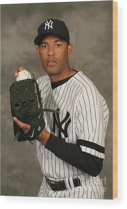Media Day Wood Print featuring the photograph Mariano Rivera by Nick Laham