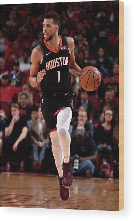 Nba Pro Basketball Wood Print featuring the photograph Michael Carter-williams by Bill Baptist