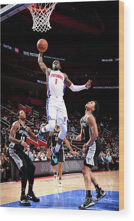 Nba Pro Basketball Wood Print featuring the photograph Reggie Jackson by Chris Schwegler