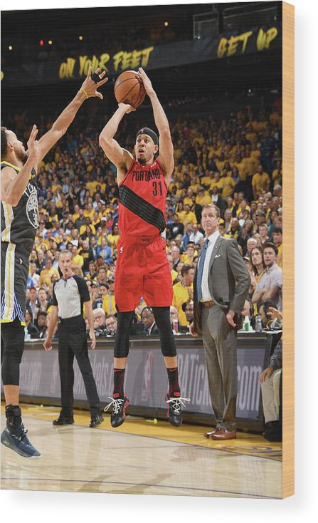 Game Two Wood Print featuring the photograph Seth Curry by Andrew D. Bernstein