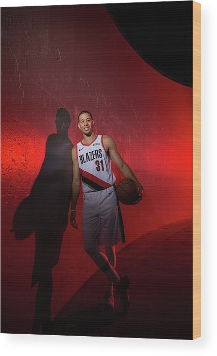 Media Day Wood Print featuring the photograph Seth Curry by Sam Forencich