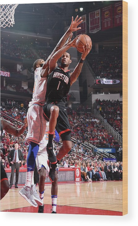 Nba Pro Basketball Wood Print featuring the photograph Trevor Ariza by Bill Baptist