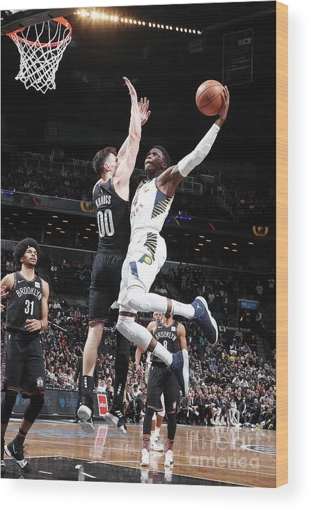 Nba Pro Basketball Wood Print featuring the photograph Victor Oladipo by Nathaniel S. Butler