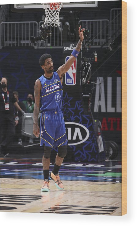 Atlanta Wood Print featuring the photograph Kyrie Irving by Nathaniel S. Butler