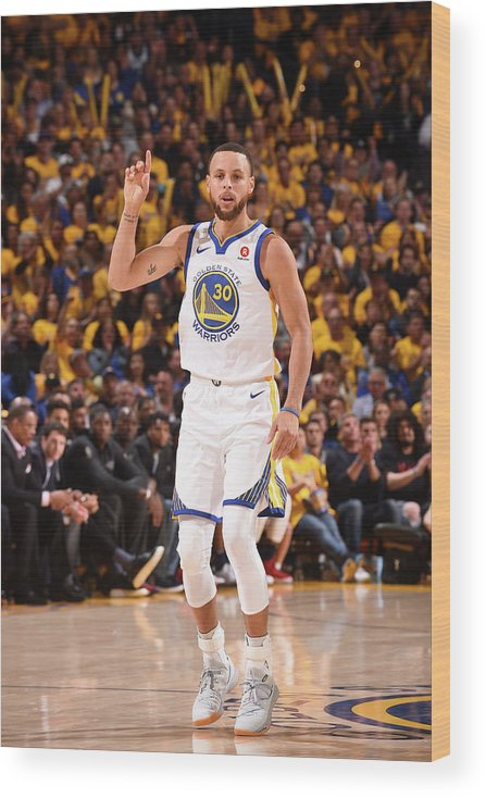 Playoffs Wood Print featuring the photograph Stephen Curry by Noah Graham