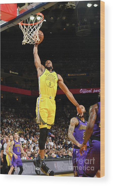 Nba Pro Basketball Wood Print featuring the photograph Andre Iguodala by Noah Graham