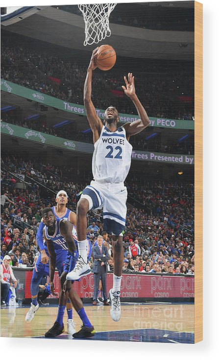 Nba Pro Basketball Wood Print featuring the photograph Andrew Wiggins by Jesse D. Garrabrant