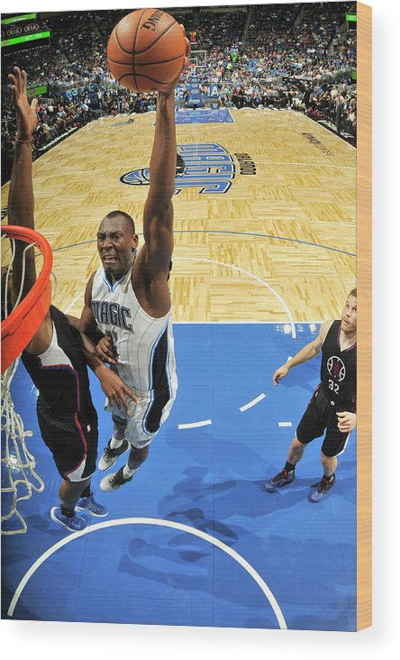 Nba Pro Basketball Wood Print featuring the photograph Bismack Biyombo by Fernando Medina