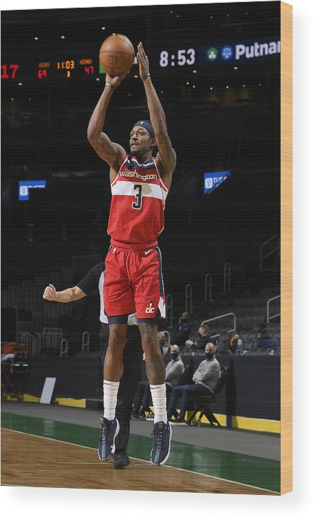 Nba Pro Basketball Wood Print featuring the photograph Bradley Beal by Brian Babineau