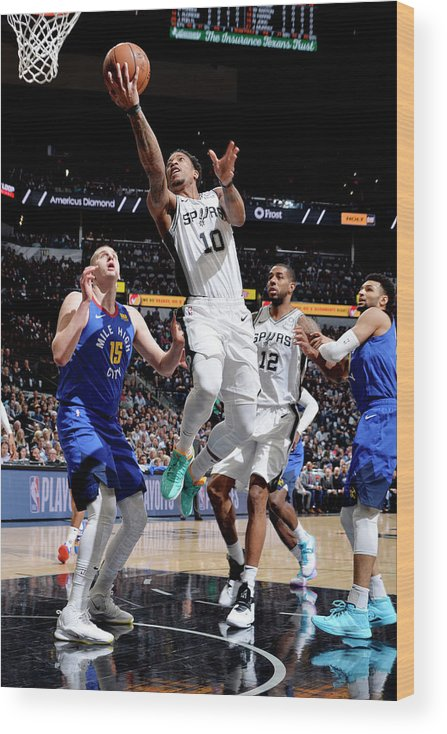 Playoffs Wood Print featuring the photograph Demar Derozan by Mark Sobhani